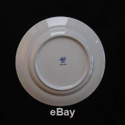 4 assiettes plates céramique porcelaine CIPA vintage art nouveau table ITALY