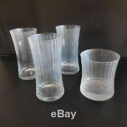 4 verres glasses vintage art nouveau art déco design XXe PN France