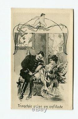 5 Cartes Postales Anciennes Vintage Erotica, Curiosa
