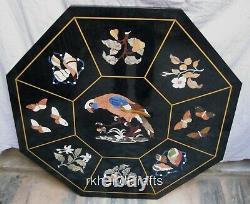 76.2cm Octogone Marbre Cuisine Table Haut Fait à la Main Patio Avec Art Vintage
