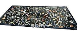91.4x183cm Marbre Dîner Table Haut Fait à la Main Réception Avec Art Vintage