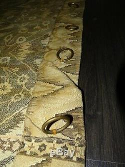 ART NOUVEAU rideau ancien tissu mural tenture tapisserie déco vintage 120x240cms