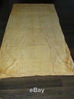 ART NOUVEAU tenture rideau ancien tissu mural tapisserie déco vintage 120x240cms
