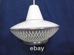 Abat jour suspension globe plafonnier art deco art nouveau 1950 ancien vintage