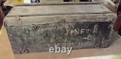 Ancien Coffre Malle Rapide Voyage bois vintage Rétro 1900.68 x 34 x 26,5 cm