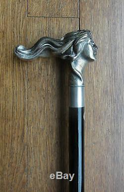 Ancienne Canne de Marche Argent No 1. Vintage Sterling Silver Walking Stick