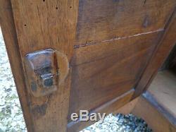 Ancienne enfilade buffet bas 3 portes noyer vintage ancien montagne chalet