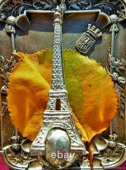 Ancienne grande broche vintage Tour Eiffel Art Nouveau France Antique vintage la