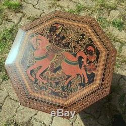 Ancienne petite table a thé en bois laqué vintage art déco