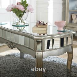 Antique Argent Copié Café Table Vintage Art Déco Français de Luxe Glamour