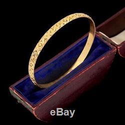 Antique Vintage Art Nouveau 14k or Rempli Gf Chassé Mariage Empilage Bracelet