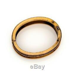 Antique Vintage Art Nouveau 14k or Rempli Gf Étrusque Mariage Bracelet