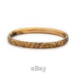 Antique Vintage Art Nouveau 14k or Rempli Gf à Charnières Mariage Bracelet