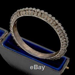Antique Vintage Art Nouveau 925 Argent Sterling Chassé Ottoman Bracelet