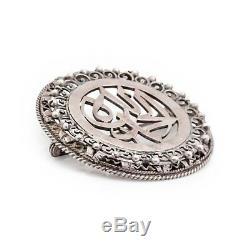 Antique Vintage Art Nouveau Argent Sterling Ottoman Turque Broche Pendentif