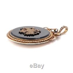 Antique Vintage Art Nouveau Sterling 84 Argent Russe Diamant Rubis 6.3cm