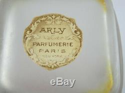 Arly Lilas Flacon de Parfum Depinoix Art Nouveau 1915 Vintage Bouteille