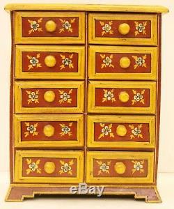 Armoire Bois Peint à la Main Maison Décor Art Vintage de Collection Inde US7