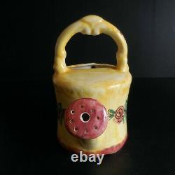 Arrosoir céramique faïence fait main vintage art nouveau déco maison XXe N5054
