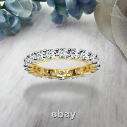 Art Déco 3.00 CT Diamant Rond 10k or Jaune Vintage Anniversaire Mariage Bande