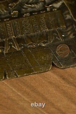 Art Déco Style! Vintage Européen Bronze Croix Crucifix The Last Souper Fin Deal