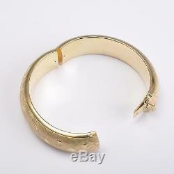 Art Déco Vintage Ovale Bracelet, Bracelets D'or 585er/14 Carats or, 75g