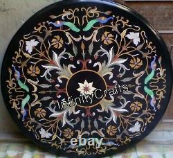 Art Vintage Et Artisanats Travail Inlaid Café Table Haut Rond Dîner Table 152cm