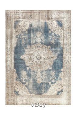 Arte Espina Tapis Classique Aubousson Orient Vintage Bleu Beige 200x290 Cm