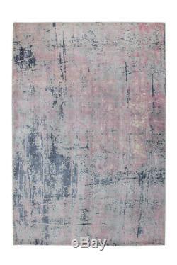 Arte Espina Tapis Moderne Loft Dégradé Vintage Bleu Gris Rose 170x240cm
