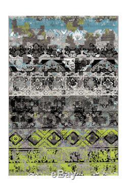 Arte Espina Tapis Ornement Vintage Motif Salon Gris Bleu Vert 200x290 CM