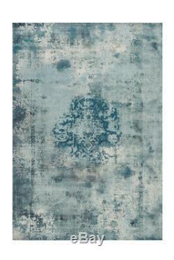 Arte Espina Tapis Vintage Oriental Design Aubousson Turquois Bleu Gris 200x290cm