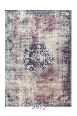 Arte Espina Tapis Vintage Oriental Motif Design Aubousson Violet Crème