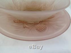 Assiette Et Coupe En Verre Opale Style Liberty Art Nouveau Vintage Vase R88