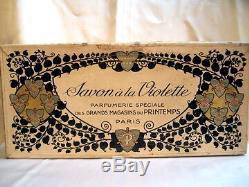 Au Printemps Savon A La Violette Boite Art Nouveau 1900 Vintage Soap Box