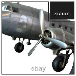 Authentique Models Flugzeugmodell Dakota DC3 Décoration Support Art Déco Vintage