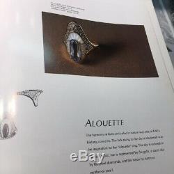 Bague vintage art déco art nouveau de collection Erté Erte' Modèle Alouette rare