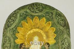Bas relief 1910 céramique Lachenal art nouveau, ceramic vintage, pottery art deco