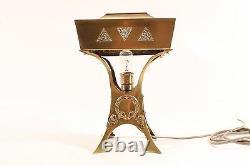 Belle Vieux Lampe Art Nouveau Lampe de Bureau Table Vieux Vintage