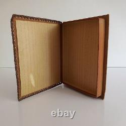 Boite livre de conservation lettre carte papier vintage XXe fait main PN France