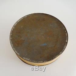 Boite ronde box round métal art nouveau vintage art déco France