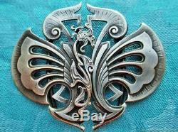 Boucle de ceinture vintage Fleur Art Nouveau début XXe siècle France Vintage bel