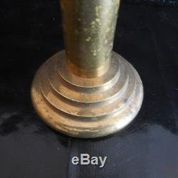 Bougeoir cuivre laiton Art Déco Design XXe vintage PN Ecritures France N3147