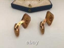 Boutons de manchette or 333 (8 k) bijoux joaillerie vintage Art Nouveau Déco