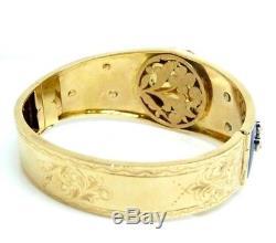 Bracelet Art Nouveau Vintage Ans'20 Or Massif 18 Kt Avec Diamant Et Rubis
