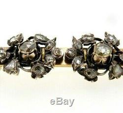Broche D'Époque Art Nouveau Or Massif 18 KT Antique Diamants Vintage Ans'10