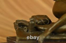 Bronze Sculpture Art Déco Vintage Décor Charleston Robe Femme Classique Mode