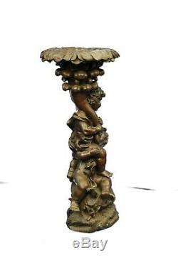 Bronze Sculpture Statue Style Art Nouveau Vintage Deux Playful Puti Chérubin Lrg