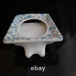 Cadre miniature médaillon céramique porcelaine vintage art nouveau JAPAN N3955