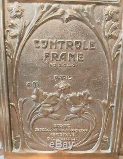 Caisse enregistreuse vintage La Nationale Art Nouveau