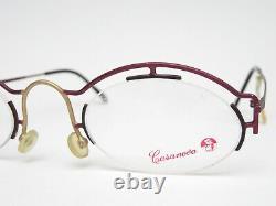Casanova Clayberg-4 Designer Lunettes Vintage Monture D'Italie Rareté Art